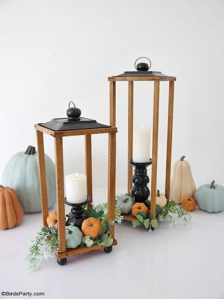 fall lanterns DIY